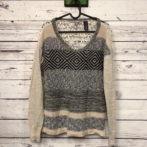 Buckle BKE Boutique crochet sweater